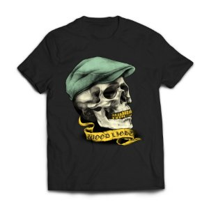 Camiseta Wood Light Skull Hat Preta