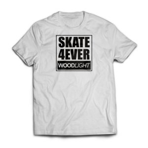 Camiseta Wood Light Skate 4ever Branca