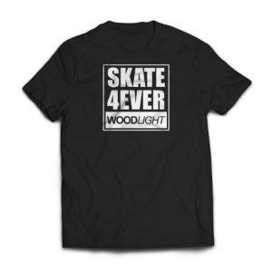 Camiseta Wood Light Skate 4ever Preta