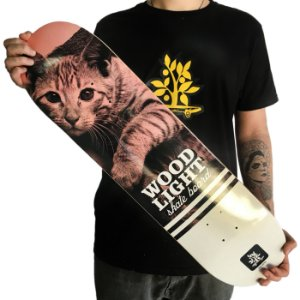 Shape Fiber Glass Wood Light - Colorpics Cat (LIXA GRÁTIS)