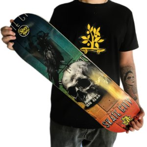 Shape Fiber Glass Wood Light - Skate City Skull Crow (LIXA GRÁTIS)