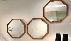 TRIO Espelho Moldura Octogonal