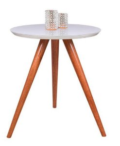 Mesa lateral tripé branca