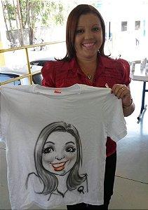 Caricaturas em Camiseta Ao Vivo - 4hs