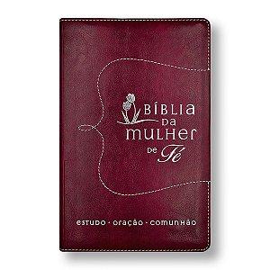 BÍBLIA DA MULHER DE FÉ - LUXO CAPA VERMELHA