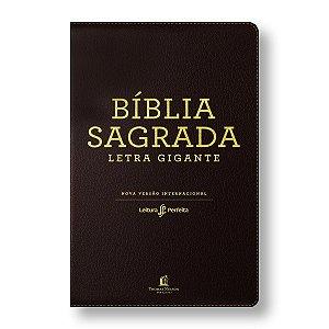 BÍBLIA NVI LEITURA PERFEITA LETRA GIGANTE CAPA LUXO MARROM