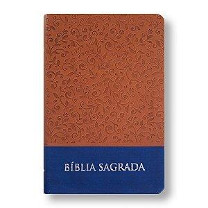 BÍBLIA NTLH65LG LETRA GRANDE PU MARROM AZUL