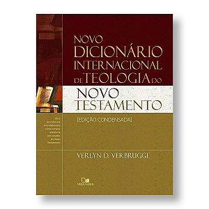 NOVO DICIONÁRIO INTERNACIONAL TEOLOGIA DO NOVO TESTAMENTO