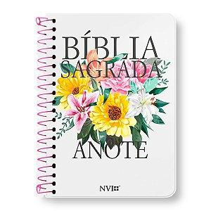 BÍBLIA NVI ANOTE LETRA NORMAL ESPIRAL CAPA PRIMAVERA