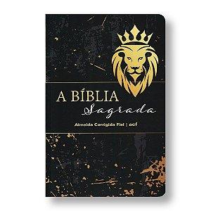 BÍBLIA ACF SLIM LETRA MÉDIA CAPA BROCHURA LEÃO