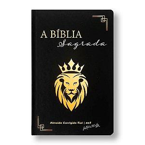 BÍBLIA ACF SUPER LEGÍVEL COM REFERÊNCIAS CAPA DURA LEÃO