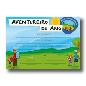 CERTIFICADO AVENTUREIRO DO ANO