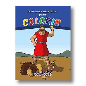 HISTÓRIAS DA BÍBLIA PARA COLORIR SANSÃO