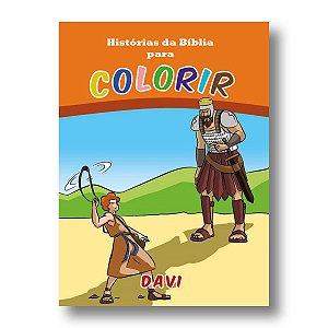 HISTÓRIAS DA BÍBLIA PARA COLORIR DAVI