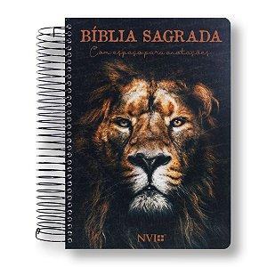 BÍBLIA NVI ANOTE - ESPIRAL CAPA LEÃO DE JUDÁ