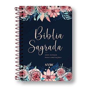 BÍBLIA NVI ANOTE - ESPIRAL CAPA ROSAS