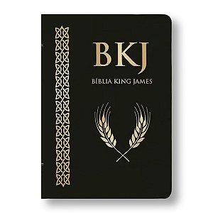 BÍBLIA KING JAMES FIEL 1611 ULTRA GIGANTE CAPA LUXO PU PRETA