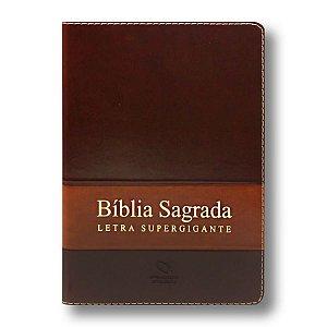 BÍBLIA NA085TILSG LETRA SUPERGIGANTE CAPA MARROM ALPHA / MARROM NOBRE COM ÍNDICE