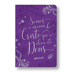 BÍBLIA NVT - LETRA GRANDE ST - AROMA DE CRISTO ROXA