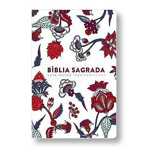 BÍBLIA NVT - LETRA GRANDE ST - INDIAN FLOWERS BRANCO
