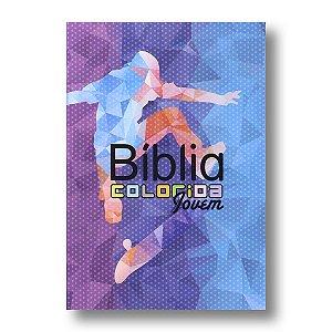 BÍBLIA COLORIDA JOVEM CAPA BROCHURA ESPORTE RADICAL