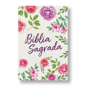 BÍBLIA NVT LETRA GRANDE CAPA DURA - TEXTURA FLORAL