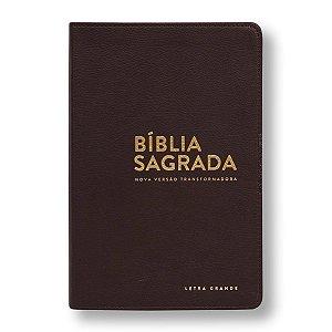 BÍBLIA NVT LUXO LETRA GRANDE MARROM