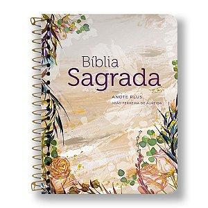 BÍBLIA RC ANOTE PLUS ESPIRAL FLOR MARMORIZADA