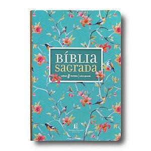 BÍBLIA NVI LEITURA PERFEITA LETRA GRANDE CAPA FLORES