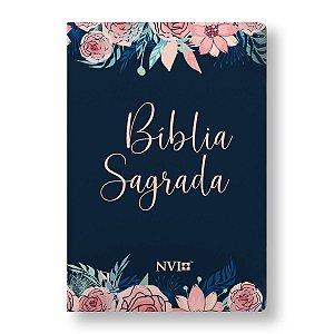 BÍBLIA NVI LETRA NORMAL CAPA ESPECIAL ROSAS