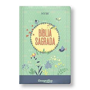 BÍBLIA NVI LETRA NORMAL CAPA SEMILUXO VERDE ÁGUA
