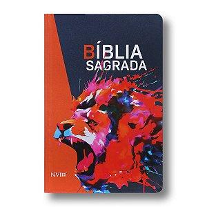 BÍBLIA NVI GRANDE SEMI LUXO LEÃO