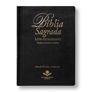 BÍBLIA RA085TIL LETRA EXTRAGIGANTE PRETA ÍNDICE / LETRAS VERMELHAS