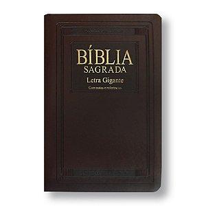 BÍBLIA RA065TILGI LETRA GIGANTE MARROM NOBRE COM ÍNDICE, NOTAS E REFERÊNCIAS