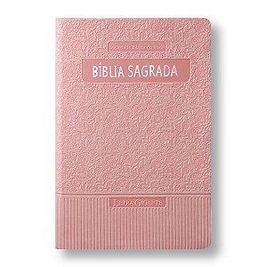BÍBLIA RA065TILGI LETRA GIGANTE COM ÍNDICE - ROSA CLARO