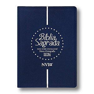 BÍBLIA NVI EXTRA GIGANTE AZUL