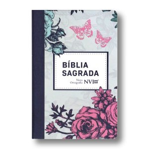 BÍBLIA NVI NOVA ORTOGRAFIA SEMI-LUXO LILÁS FLORAL