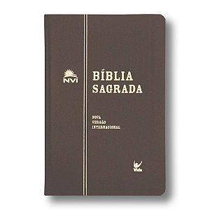 BÍBLIA NVI SEMI-LUXO MARROM
