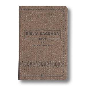 BÍBLIA NVI LETRA GIGANTE LUXO MARROM