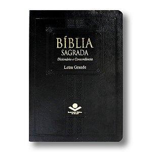 BÍBLIA RA067CDLG LETRA GRANDE PRETA ALPHA DICIONÁRIO / CONCORDÂNCIA