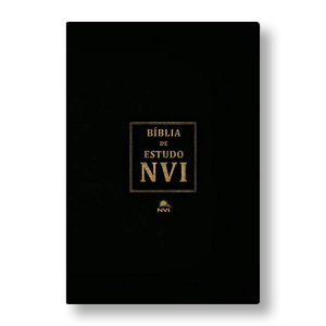 BÍBLIA DE ESTUDO NVI - CAPA LUXO PRETA