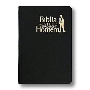 BÍBLIA DE ESTUDO DEVOCIONAL DO HOMEM NVI LUXO PRETA