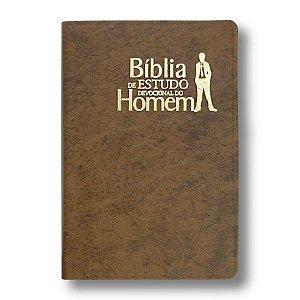BÍBLIA DE ESTUDO DEVOCIONAL DO HOMEM NVI LUXO MARROM