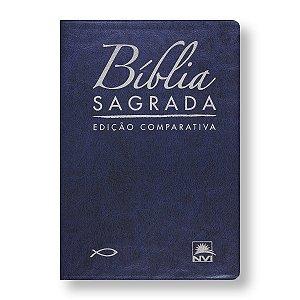BÍBLIA COMPARATIVA RC-NVI EXTRAGIGANTE AZUL ESCURO