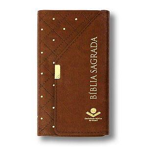 BÍBLIA RA035 ALPHA CARTEIRA MARROM