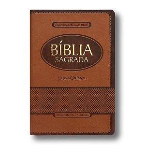 BÍBLIA RA065TILGI LETRA GIGANTE MARROM COM ÍNDICE