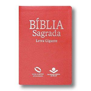 BÍBLIA NA065TILGI PÊSSEGO LETRA GIGANTE ÍNDICE