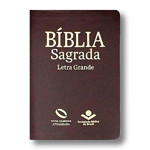 BÍBLIA NA045TILG MARROM NOBRE LETRA GRANDE ÍNDICE