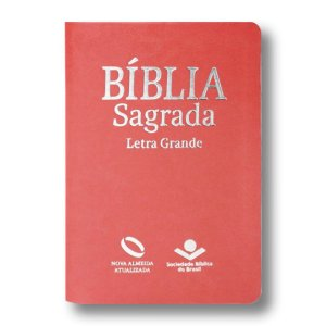 BÍBLIA NA045TILG PÊSSEGO LETRA GRANDE ÍNDICE
