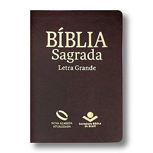 BÍBLIA NA045LG LETRA GRANDE MARROM NOBRE